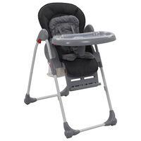 vidaXL bērnu barošanas krēsls, pelēks