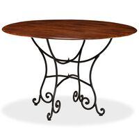 vidaXL virtuves galds, 120x76 cm, akācijas masīvkoks ar rožkoka apdari
