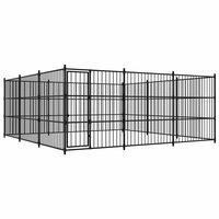 vidaXL suņu voljērs, 450x450x185 cm