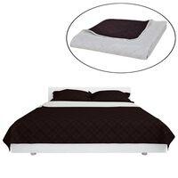 Divpusējs gultas pārklājs 170 x 210 cm, bēši brūns, stepēts