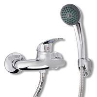 vidaXL dušas galva un jaucējkrāns, hromēts