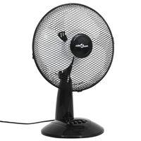 vidaXL galda ventilators ar 3 ātrumiem, 30 cm, 40 W, melns