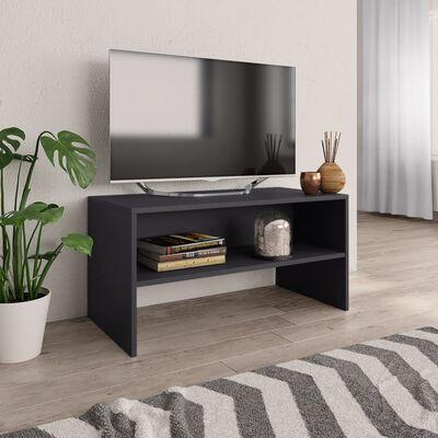 vidaXL TV skapītis, 80x40x40 cm, pelēks, skaidu plāksne