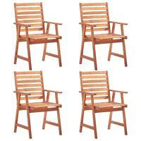 vidaXL dārza krēsli, 4 gab., akācijas masīvkoks