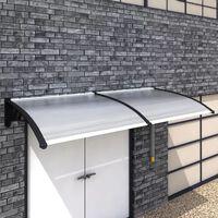 vidaXL durvju jumtiņš, 240x100 cm, PC