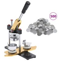 vidaXL nozīmīšu izgatavošanas ierīce, 500 pamatnes, 25 mm
