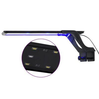 vidaXL akvārija LED lampa ar stiprinājumu, 35-55 cm, zila un balta
