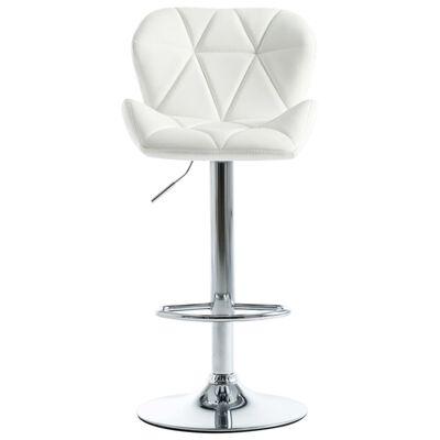 vidaXL bāra krēsls, balta mākslīgā āda