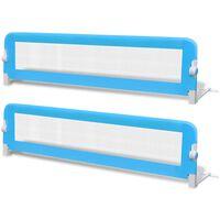 vidaXL bērnu gultas aizsargbarjeras, 2 gab., zilas, 150x42 cm