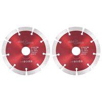 vidaXL dimanta griešanas diski, 2 gab., tērauds, 125 mm