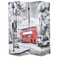 vidaXL istabas aizslietnis, 160x170 cm, saliekams, Londona, melnbalts