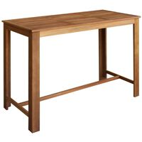 vidaXL bāra galds, 150x70x105 cm, akācijas masīvkoks