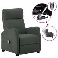 vidaXL elektrisks masāžas krēsls, atgāžams, pelēka mākslīgā āda