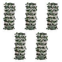 vidaXL špaleru žogi, 5 gab., ar mākslīgām lapām, 180x30 cm, vītols