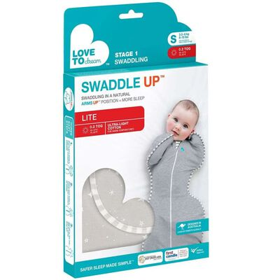 Love to Dream mazuļu guļammaiss Swaddle UP LITE, S izmērs, pelēks