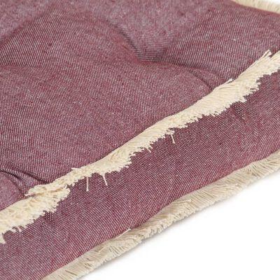 vidaXL 2-daļīgs palešu dīvānu matraču komplekts, vīnsarkans