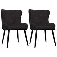 vidaXL virtuves krēsli, 2 gab., melns samts
