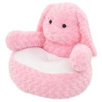 vidaXL rotaļu zaķis, rozā plīšs
