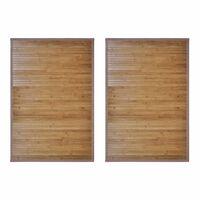 vidaXL vannasistabas paklāji, 2 gab., bambuss, brūns, 60 x 90 cm