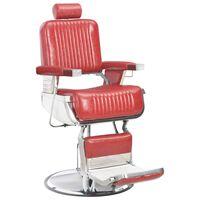 vidaXL frizieru krēsls, 68x69x116 cm, sarkana mākslīgā āda