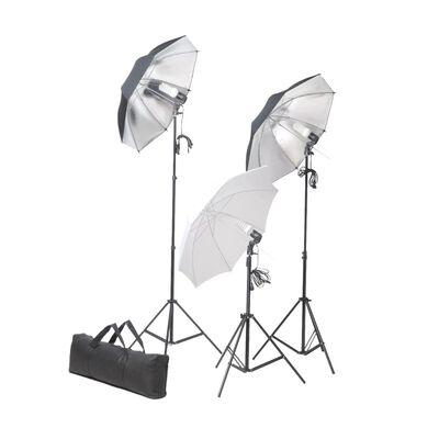 vidaXL fotostudijas komplekts, fons un gaismas