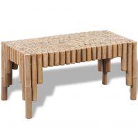 vidaXL kafijas galdiņš, bambuss