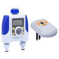 vidaXL elektroniskais laistīšanas taimeris, divas izejas un mitruma sensors