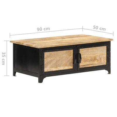 vidaXL kafijas galdiņš, 90x50x35 cm, mango masīvkoks
