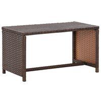 vidaXL kafijas galdiņš, brūns, 70x40x38 cm, PE rotangpalma