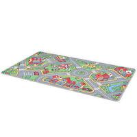 vidaXL rotaļu paklājs, 170x290 cm, pilsētas ceļu ainava, audums