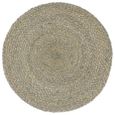 vidaXL galda paliktņi, 4 gab., 38 cm, apaļi, pelēka džuta
