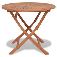vidaXL saliekams dārza galds, 85x76 cm, masīvs tīkkoks