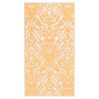 vidaXL āra paklājs, 160x230 cm, oranžs un balts PP