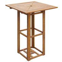 vidaXL bistro galds, 75x75x110 cm, akācijas masīvkoks