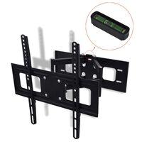 vidaXL paceļams, grozāms TV sienas stiprinājums, 3D, 400x400mm