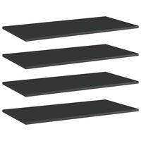 vidaXL plauktu dēļi, 4 gab., spīdīgi melni, 80x40x1,5cm, skaidu plātne