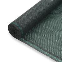 vidaXL tenisa laukuma tīkls, HDPE, 1,4x100 m, zaļš
