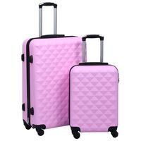 vidaXL cieto koferu komplekts, 2 gab., ABS, rozā