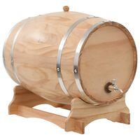 vidaXL vīna muca ar krānu, masīvs priedes koks, 35 L