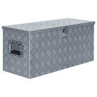 vidaXL kaste, 90,5x35x40 cm, alumīnijs, sudraba krāsā
