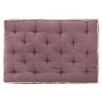 vidaXL palešu dīvāna matracis, 120x80x10 cm, vīnsarkans