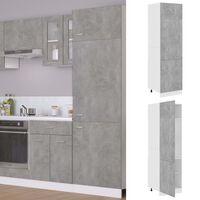 vidaXL ledusskapja skapis, betona pelēks, 60x57x207 cm, skaidu plātne