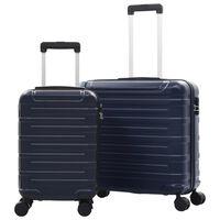 vidaXL cieto koferu komplekts, 2 gab., ABS, zils