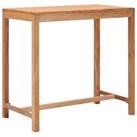 vidaXL dārza bāra galds, 110x60x105 cm, masīvs tīkkoks