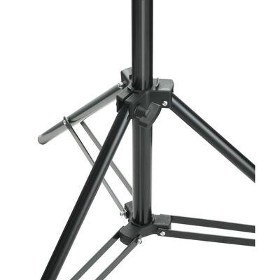 vidaXL fonu balsta sistēma, teleskopiska, balts fons, 3x5 m