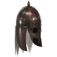 vidaXL vikingu karotāju bruņucepure, replika, vara krāsas tērauds