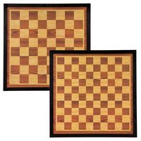 Abbey Game šaha un dambretes dēlis, 41x41 cm, koks, brūns un bēšs