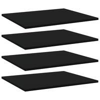 vidaXL plauktu dēļi, 4 gab., melni, 60x50x1,5 cm, skaidu plāksne