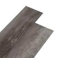 vidaXL grīdas dēļi, pašlīmējoši, 4,46 m², 3 mm, svītraina koka PVC
