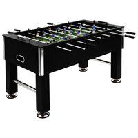 vidaXL galda futbols, 140x74,5x87,5 cm, 60 kg, tērauds, melns